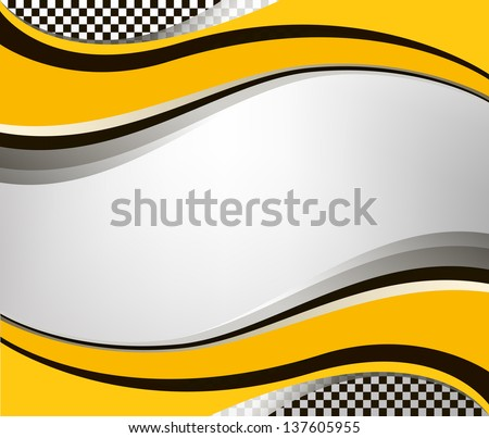 vector checkered racing flag background. EPS10 illustration - stock vector