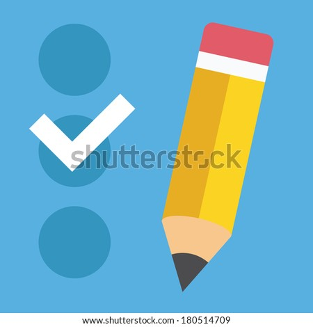 Vector Checklist Icon - stock vector