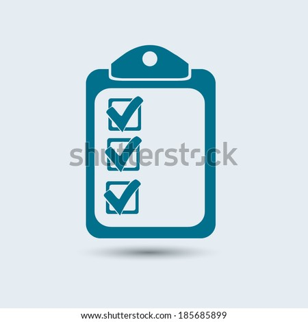 Vector checklist icon  - stock vector