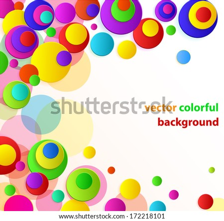 vector cheerful multicolored background