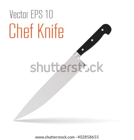 Kitchen Knife Vector vector kitchen chef knife flat style stock vector 404681497