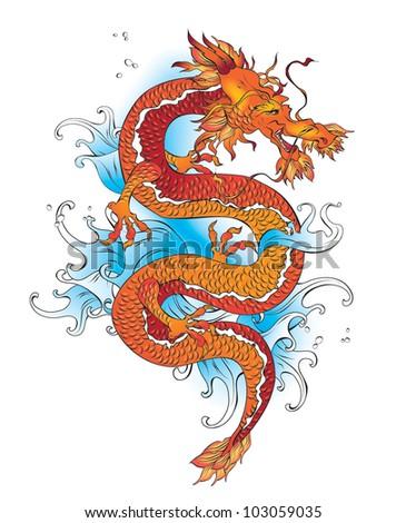 Vector chinese  dragon - stock vector