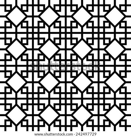 Vector Chinese Pattern on white background. - stock vector