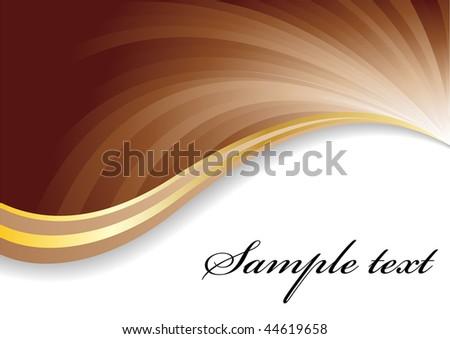 Vector chocolate background; clip-art - stock vector