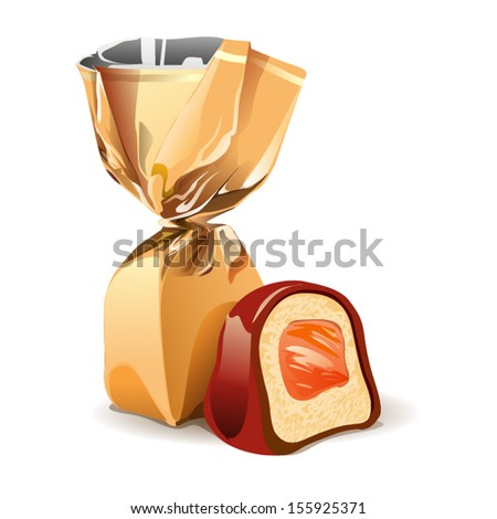 Vector chocolate candy - stock vector