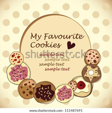 vector chocolate cookies - stock vector