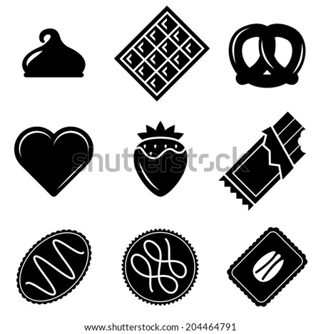 Vector Chocolate Icons - stock vector