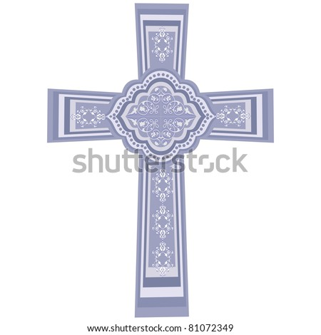 vector - CHRISTIAN CROSS. crucifix, symbol of the Christian faith. EPS8 organized in groups for easy editing. - stock vector