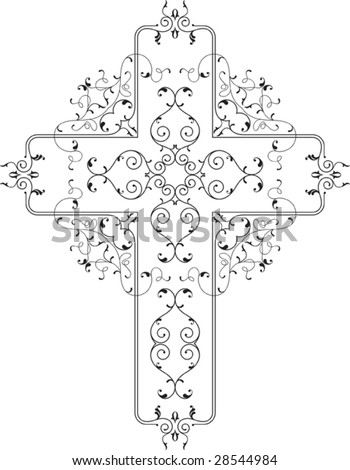 Vector Christian Cross Design - stock vector