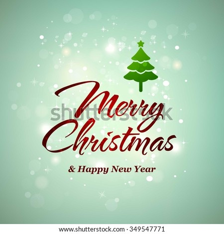 Vector christmas new year greeting card stock vector royalty free vector christmas and new year greeting card on red background happy new year message m4hsunfo