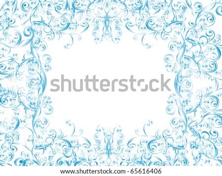 Vector christmas background whit floral ornament - stock vector
