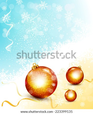 vector Christmas background with Christmas balls - stock vector