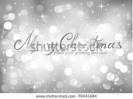 Vector Christmas background with for your text - stock vector