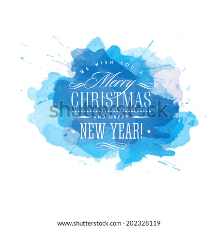 Vector Christmas background with snowflakes. New Year card. - stock vector