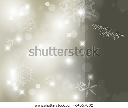 Vector Christmas background with white snowflakes and darker place for your text - stock vector