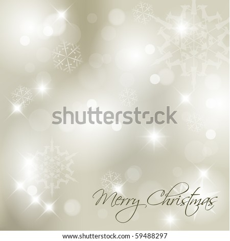 Vector Christmas background with white snowflakes and place for your text - stock vector