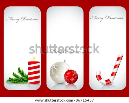 Vector christmas backgrounds set - stock vector