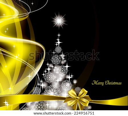 Vector Christmas Card. - stock vector