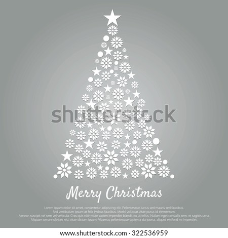 vector Christmas card. new Year. Christmas tree. flat design. suitable for greeting cards or invitations, decorations