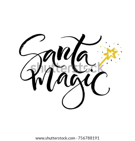Vector christmas card santa magic perfect stock vector 2018 santa magic perfect xmas design for greeting cards and invitations m4hsunfo Images