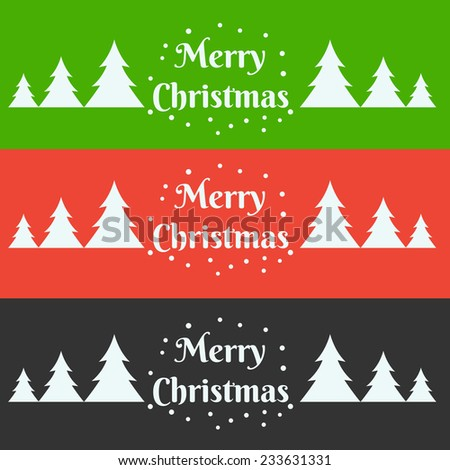 vector christmas colorful banner illustration