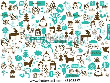 Vector christmas crazy wallpaper stock vector 63103327 shutterstock vector christmas crazy wallpaper voltagebd Gallery