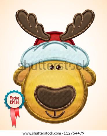 Vector christmas deer - stock vector