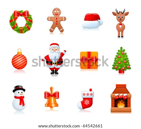 vector christmas design elements - stock vector