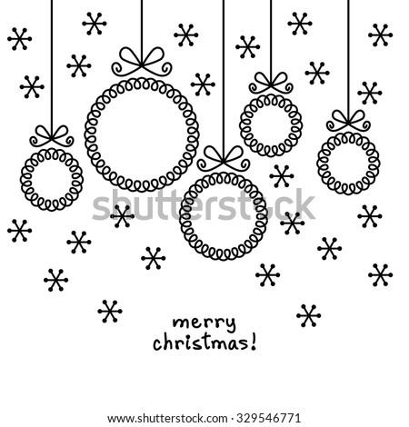 Vector christmas doodle balls shape frame stock vector 329546771 vector christmas doodle balls in shape of frame for family photo or text box cute stopboris Gallery