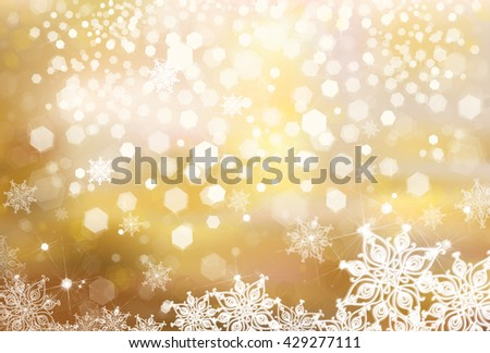 Vector Christmas golden background.  - stock vector