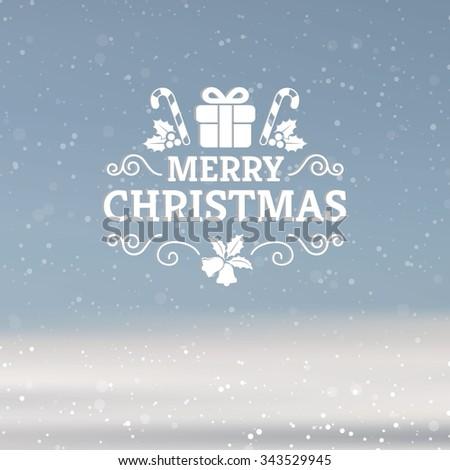 Vector Christmas greeting card - stock vector