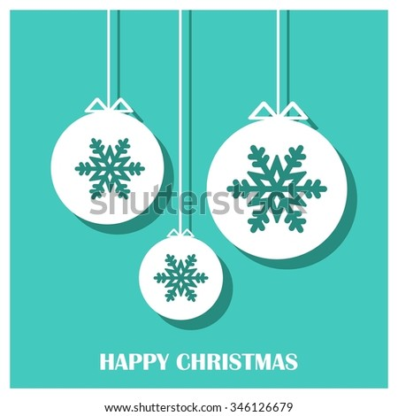 Vector Christmas greeting card - Happy New year and Merry Christmas holidays lettering on a winter snow background - EPS10 vector file organized in layers for easy editing.
