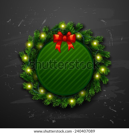 Vector Christmas Greeting Card.   Happy new year xmas - stock vector