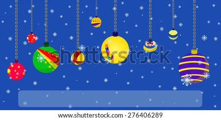 vector christmas holiday festival best wishes balloon - stock vector