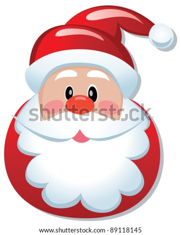 vector christmas illustration santa claus winter stock vector rh shutterstock com santa face clip art free santa face clip art free