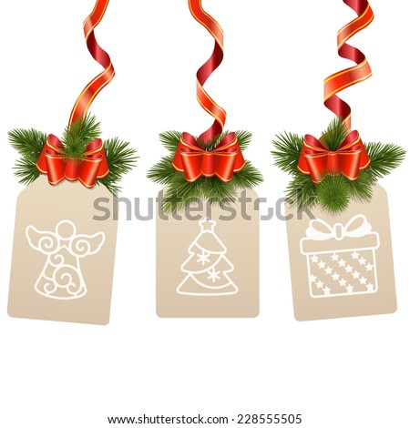 Vector Christmas Label - stock vector