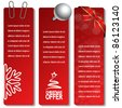 Vector Christmas offer banners - EPS 10 - stock vector