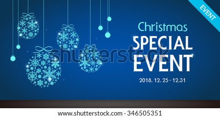 Vector christmas ornament event template - stock vector