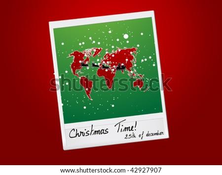 vector Christmas photo - stock vector
