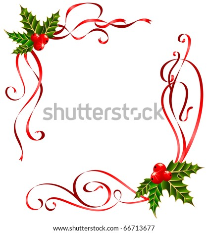 Vector christmas ribbons decorated