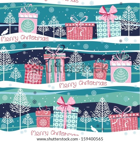 vector christmas seamless pattern - stock vector