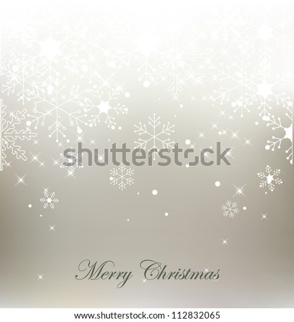 Vector christmas snowflake  background - stock vector