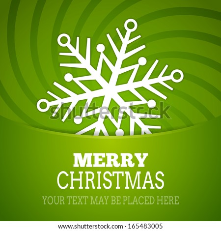 Vector christmas snowflake background poster - new year card