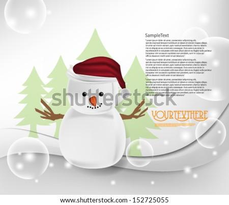 Vector Christmas Symbol Background - stock vector