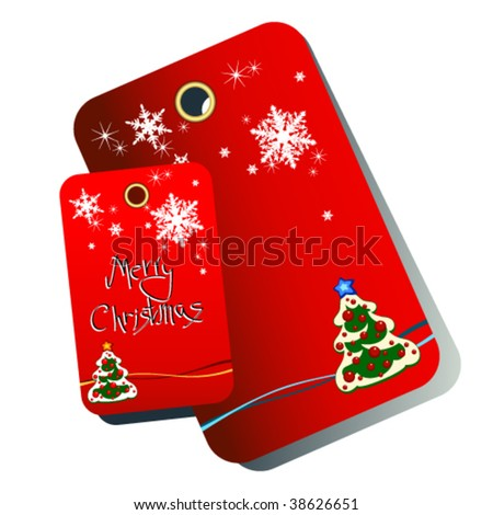 Vector Christmas tag