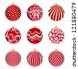 Vector Christmas tags for christmas balls or stickers - stock vector