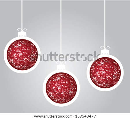 vector Christmas tree balls - stock vector