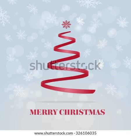 Vector Christmas Tree Illustration - stock vector