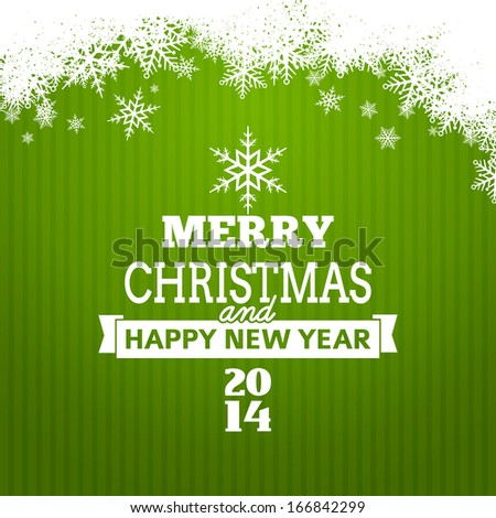 Vector christmas tree typography poster - new year card