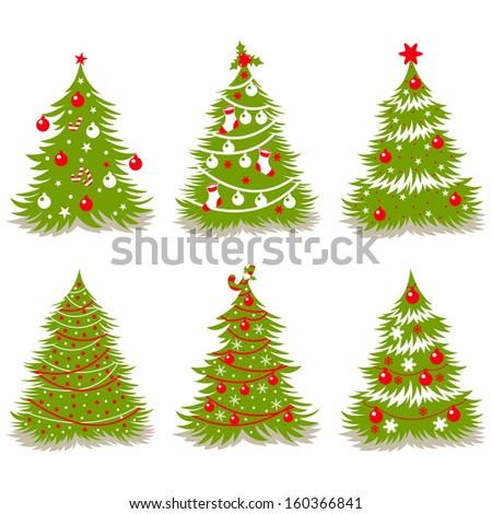 vector Christmas trees - stock vector